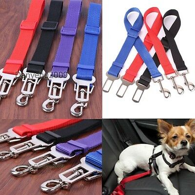 Adjustable Pets Cat Dog Nylon Fabric Car Safety Seat Belt Strap Harness Leash