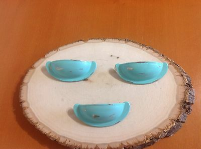 VTG 420 Mission Pulls Set Of 3 Turquoise Distress Shabby Chic!