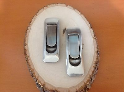 "252 VTG Mission Handles In Stainless Steel Set Of 2 About 4"" Hole To Hole"