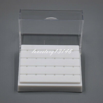 24 Holes Dental Diamond High Speed Handpiece Burs Drill Holder Box Case Block
