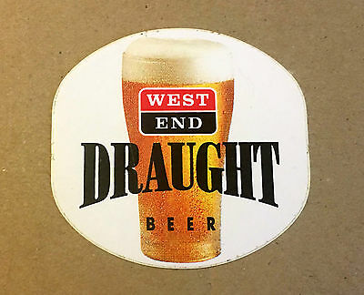'New' 1980's West End draught Point of sale sticker Adelaide SA 8 X 7.5 cm