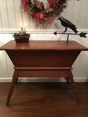 Early American Primitive Dough Box Chest Table