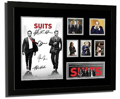 Suits Tv Show Gabriel Macht Cast Signed Limited Edition Framed Memorabilia