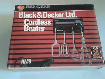 Vintage Black & Decker Handy Mixer Cordless Beater Model Hm8