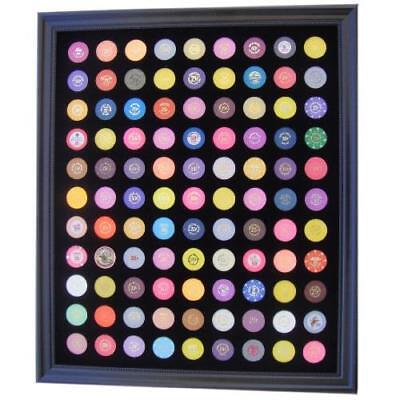 Black Casino Chip Display Frame for 99 Casino Poker Chips (not included) New