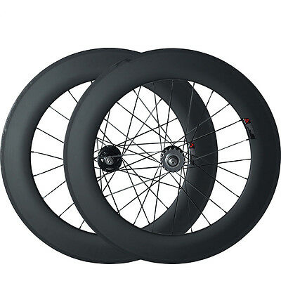 88mm Tubular Carbon Wheels Road Bicycle Track Fixed Gear Road Wheel Wheelset