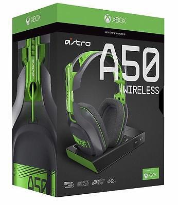 Astro A50 Grey & Green Wireless Headset + Base Station For Xbox One