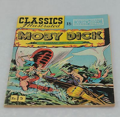 Classics Illustrated #5 HRN 60 Moby Dick by Herman Melville
