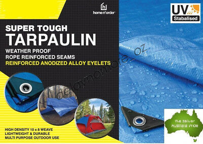Tough Tarpaulin waterproof Blue Tarp Lightweight Cover Camping Heavy Duty Party