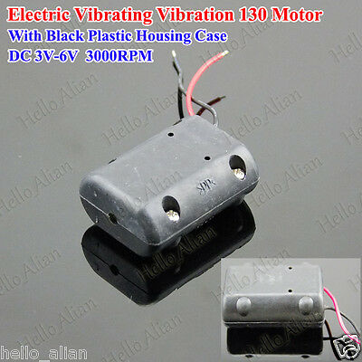 Electric Vibrating Vibration 130 Motor DC 3V Plastic Housing for Massage Machine