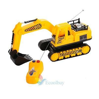 New Remote Controlled Excavator Truck Childrens Construction Digger Toy Gift #A