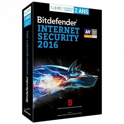 Bitdefender Internet Security 2016 - 2 ans 3 postes