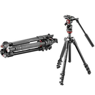 New Manfrotto MVKBFR-LIVE Video Kit w Tripod and Fluid Head Quick Release 501PL