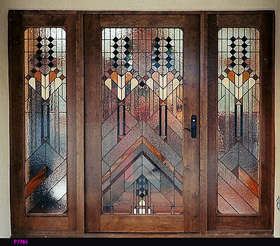 Unique Prairie Design  Stain Glass Entryway Doors & sidelights  WoW