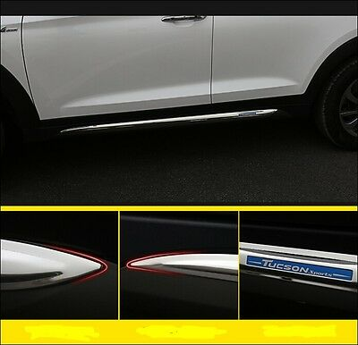 fit Hyundai All new TUCSON 2016 2017 side skirt nerf bar step trim protection