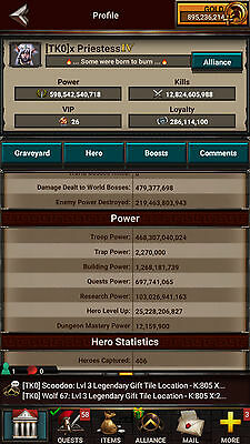 Game of War Fire Age Account