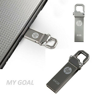 USB 2.0 Metal Memoria 4/8/16/32/64/128GB Flash Memory Stick Pen Drive Disk HP