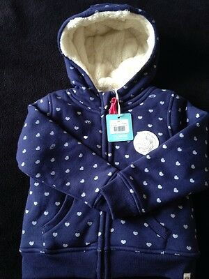 Girls Fluffy Lined Animal Hoody Aged 3-4 Years