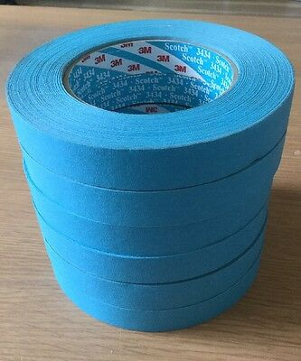 3M Blue Tape 19mm 6 Rolls