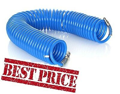 AIR LINE HOSE COMPRESSOR TOOL COILED [BEST] ALL SIZE QUALITY QIUCK FITTING10m 20