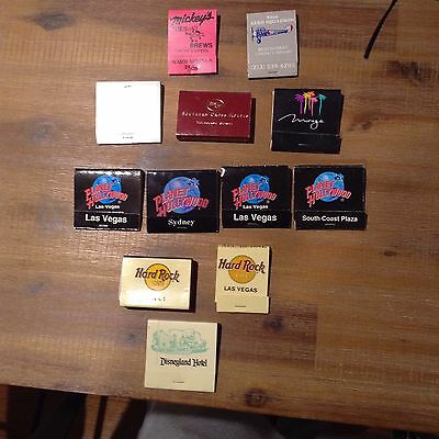 Mixed Matches / Match Books. Planet Hollywood, Hard Rock Cafe, Disneyland & More