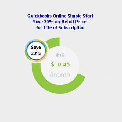 Intuit Quickbooks Online Simple Start Monthly Subscription