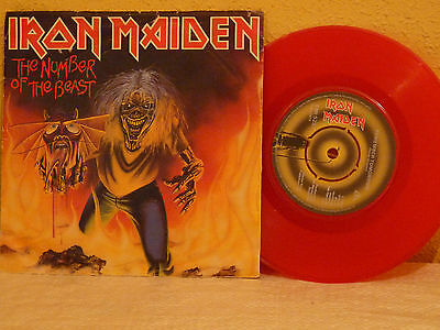 """IRON MAIDEN  """"the number of the beast""""  SINGLE 7"""""""