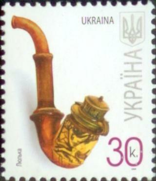 UKRAINE 2008 4v block definitive STAMPS CLAY SMOKING PIPE RARE MNH Artifacts