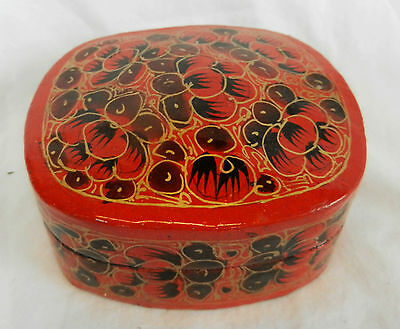 Kashmir Lacquer Hand Made and Decorated Box