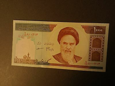 Bank Note From Asia 1000 Riyals Uncirculated