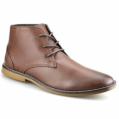 Mens New Lace Up Smart Casual Desert Chelsea Dealer Work Ankle Boots Shoes Size