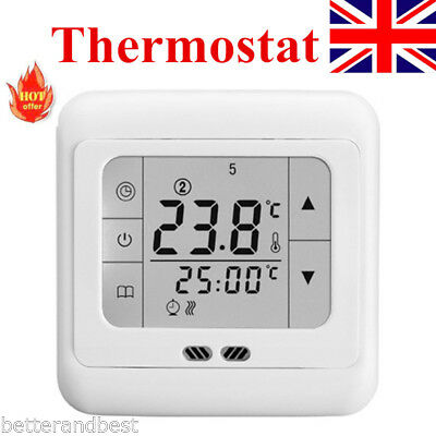 LCD Digital Electric Thermostat Temperature Controller Room Heating Programmable