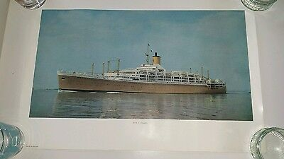 Pair of Original vintage cruise ship posters P&O line 1960s Orcades