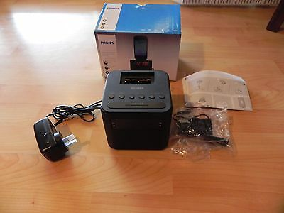 Philips AJ3200 FM Radio USB Charger Docking Station for Micro/Galaxy & iPhoneNEW
