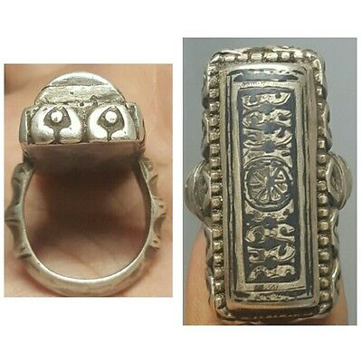 Medieval rare Old Solid Silver Stunning Ring # B