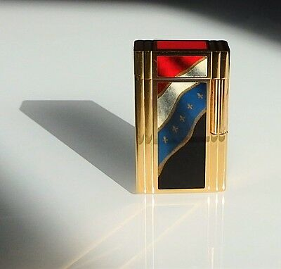 Dupont Lighter Briquet Feuerzeug Windsor French Revolution Tricolor 1989 RARE