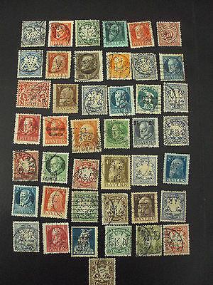 Old Bayern Germany perfin stamp collection 43 pieces, No dubbels