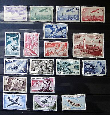 France Air Mail - Poste Aérienne  set of stamps MLH