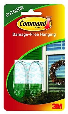 3M 17091AW-2PK Command Outdoor Window Hook-COMMAND AW HOOK MED