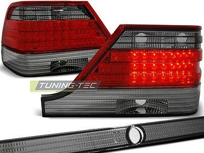 New Set Rear Tail Lights Rht Ldme31 Mercedes W140 1995-10.1998 Red Smoke Led