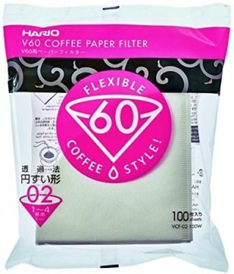 Hario VCF-02-100W V60 02 Filter Papers (100) - Filter Papers for 02 Dripper