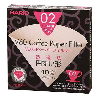 Hario VCF-02-40W V60 02 Filter Papers (40) - Filter Papers for 02 Dripper