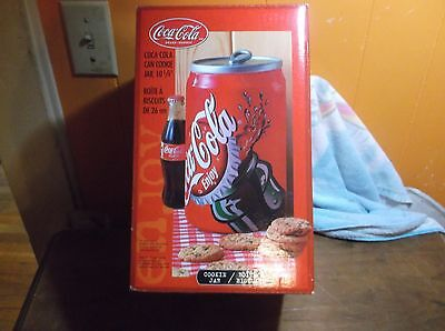 COCA COLA Can Shaped COOKIE JAR with Box