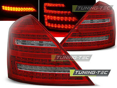 New Set Rear Tail Lights Rht Ldme50 Mercedes W221 S-Class 05-09 Red White Led