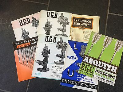 Collection Of Asquiths Brochures Catelogures Tool Machinery Drills