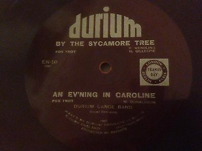 """Durium 78rpm Gramophone Record """"By the Sycamore Tree/An Ev'ning in Caroline"""""""