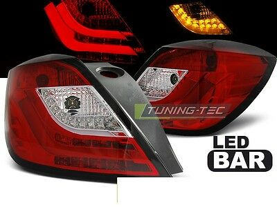 New Set Rear Tail Lights Rht Ldop48 Opel Astra H 03.04-09 3D Gtc Red White Led