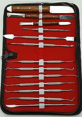 13 Pcs Dental Lab Instruments Kit  Wax Carving Modelling Set PK Thomas Wax Knife