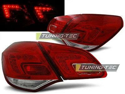 New Set Rear Tail Lights Rht Ldop44 Opel Astra J 2010- Hatchback Red White Led