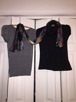 Women's 2pc Shirt lot and scarf GUC